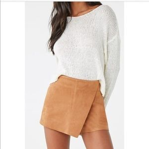 Faux Suede Skirt - NEW without Tags